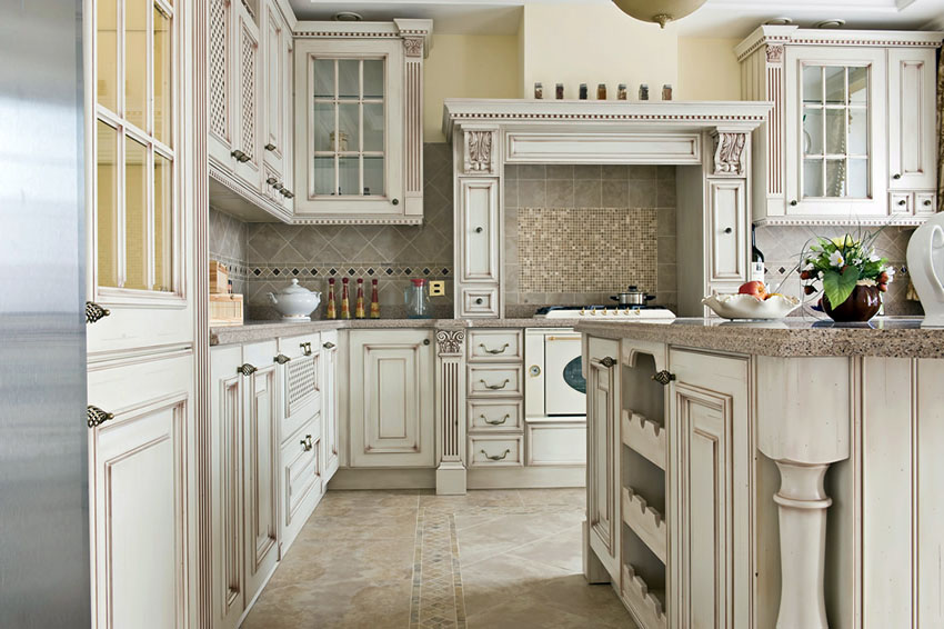 Best antique kitchen cabinets kitchen with custom antique white cabinets  with glass doors vcqbbpg