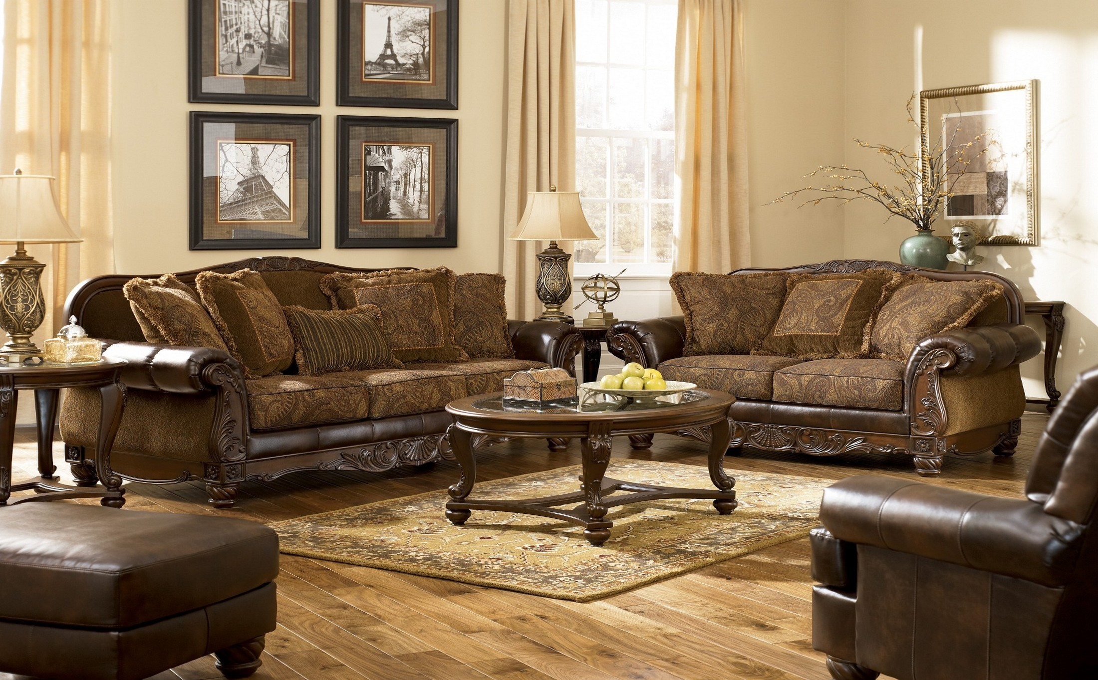 Fresco DuraBlend Antique Living Room Set from Ashley (63100) | Coleman  Furniture