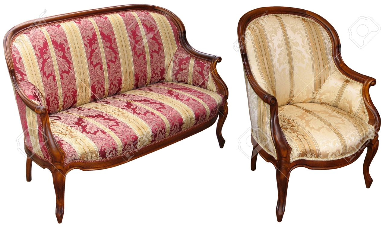 Old antique sofa set Stock Photo - 13664357