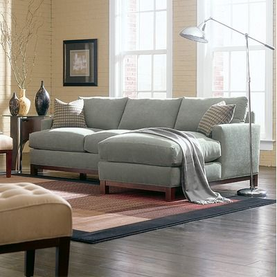 Rowe Furniture Sullivan Mini Mod Apartment Sectional Sofa - In Teal or Navy.
