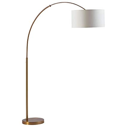 Rivet Brass Arc Floor Lamp, 76
