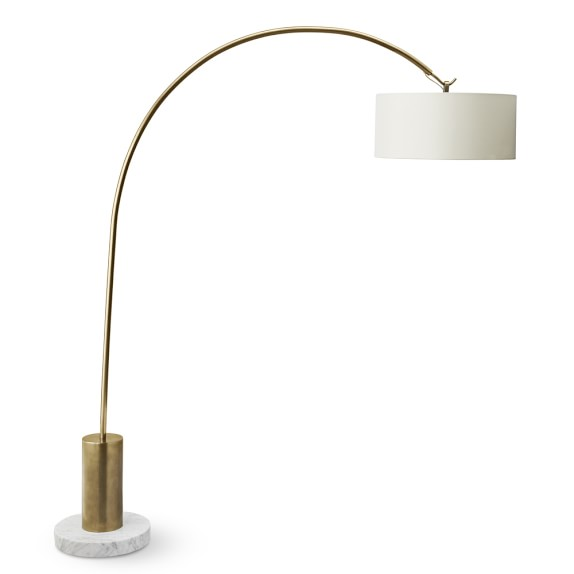 Arc Floor Lamp, Antique Brass | Williams Sonoma