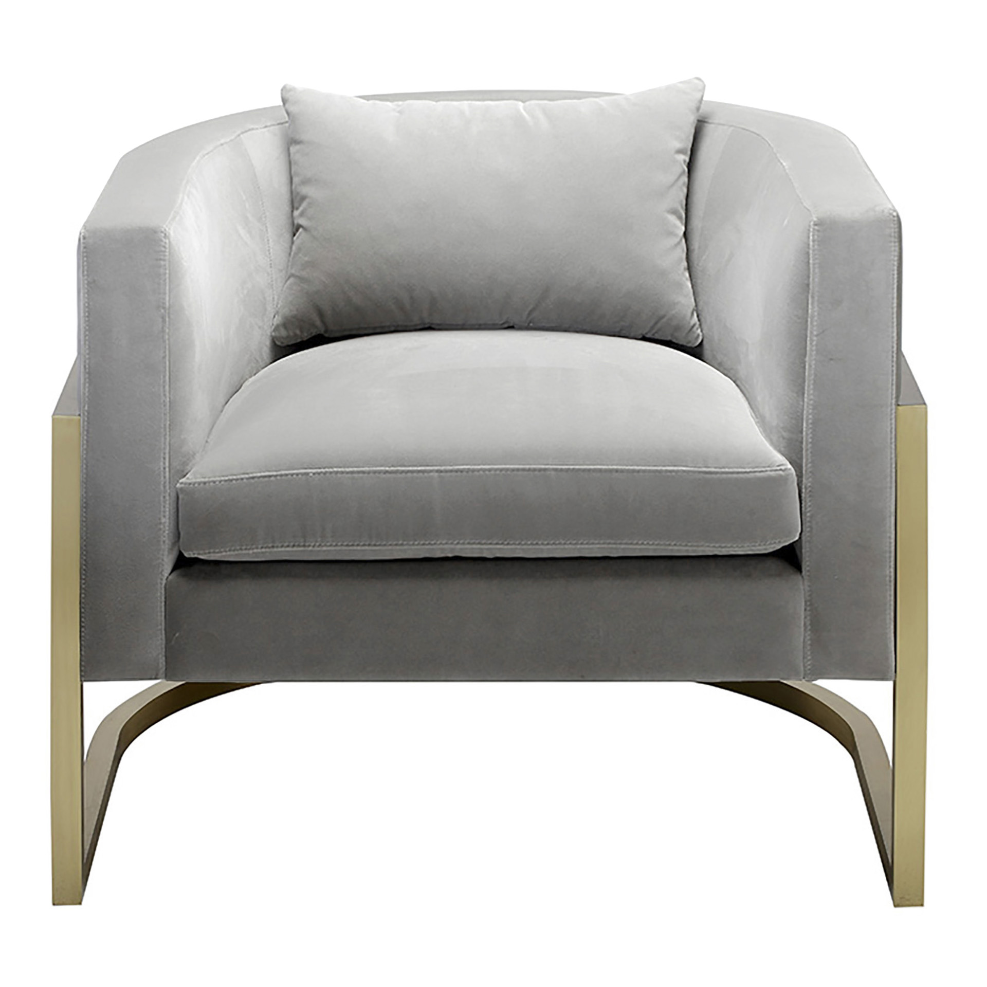 Zoom image Julius Brass Armchair Contemporary, Transitional, Organic,  MidCentury Modern, Metal, Upholstery Fabric