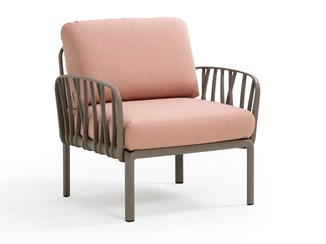 KOMODO - Upholstered fabric armchair with armrests