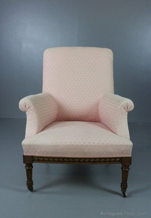 French Upholstered Armchair - Antiques Atlas