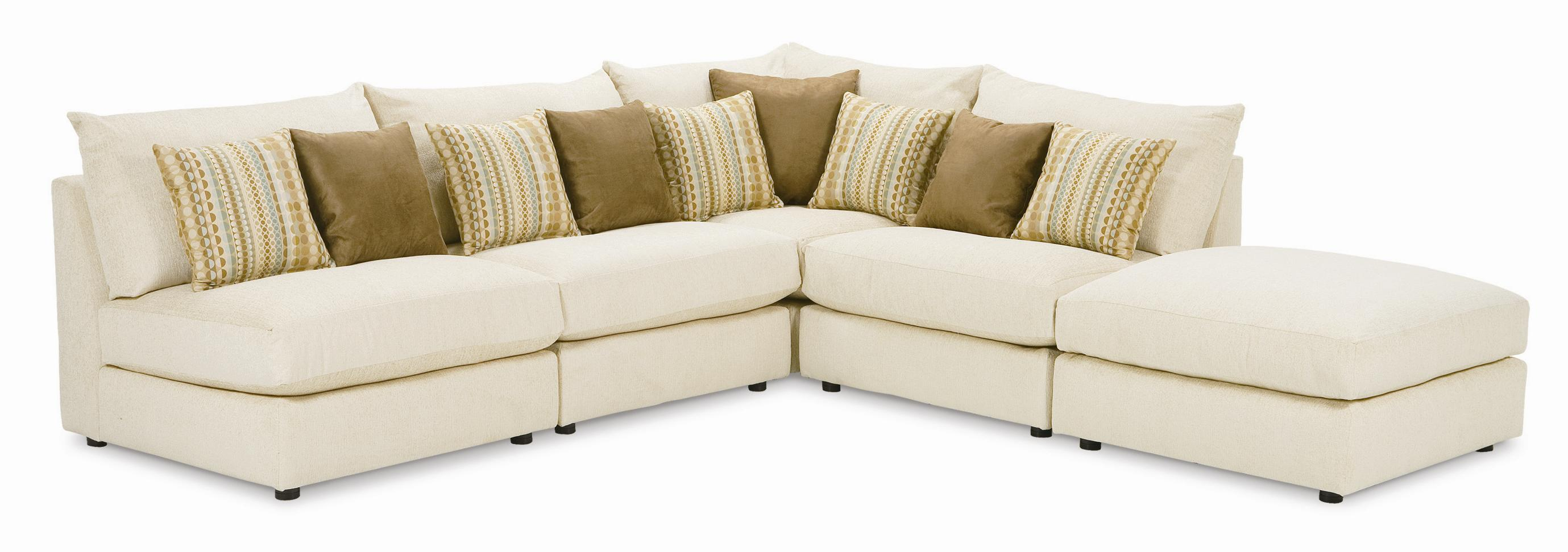 Tempo Five Piece Armless Sectional Sofa by Rowe