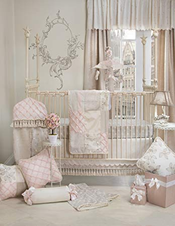 Crib Bedding Set Florence by Glenna Jean   Baby Girl Nursery + Hand Crafted  with Premium