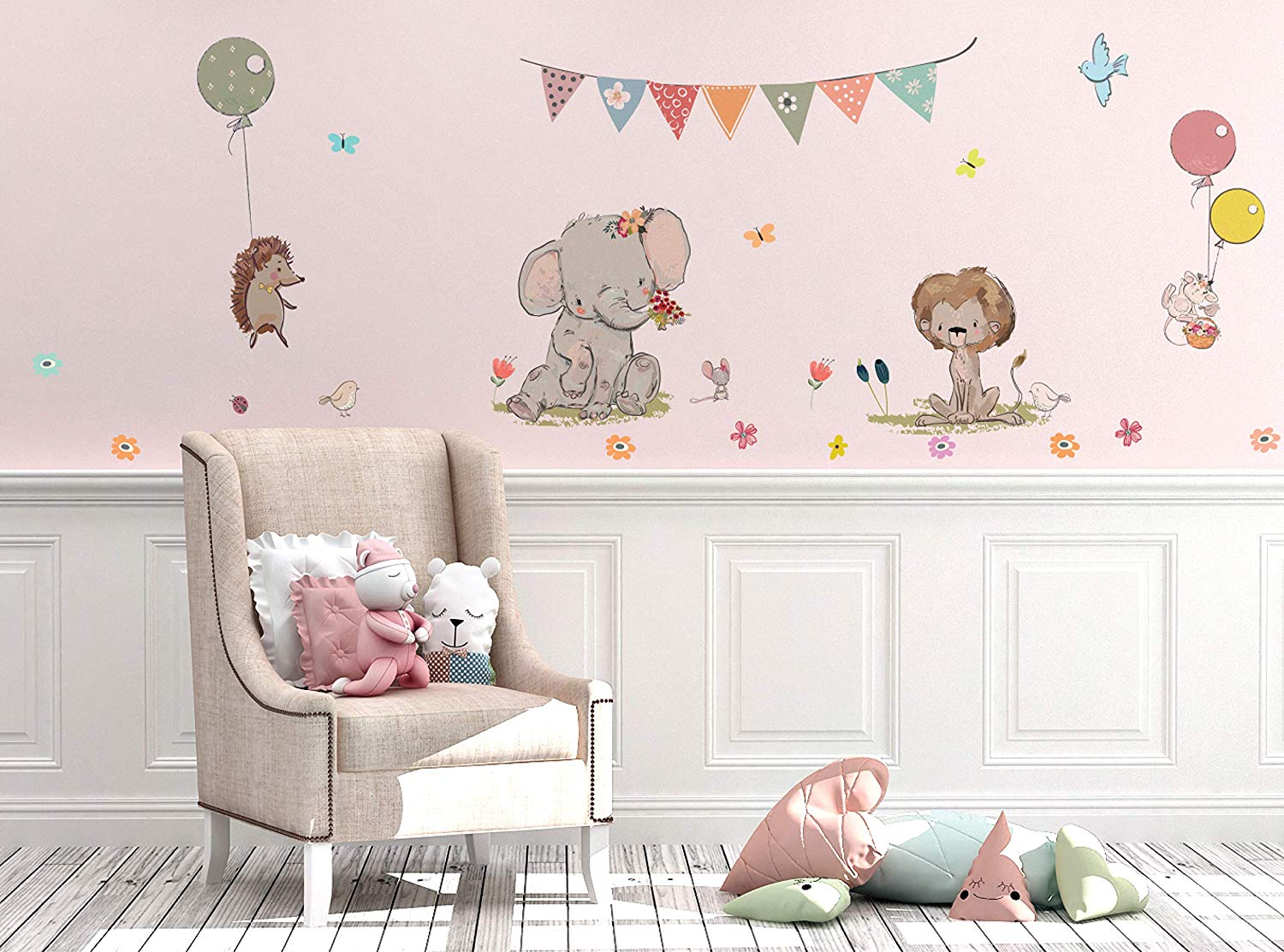 Traveller Location: Kids Wall Decals Stickers Nursery Decor Baby Room Decor Nursery  Wall Stickers Safari Woodland Scene for Baby Toddler Boys & Girls Rooms  Peel and