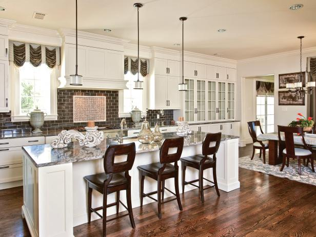 Large Kitchen Island With Eat-In Breakfast Bar