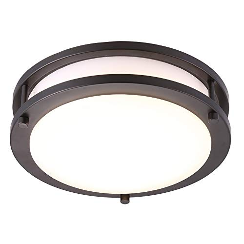 Cloudy Bay LED Flush Mount Ceiling Light,10 inch,17W(120W Equivalent)