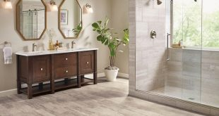 bathroom flooring in vinyl sheet - B6325 Duality Premium Collection