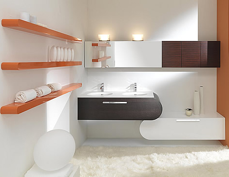 Bathroom Furniture Sets - new color set Flux by Lasa Idea