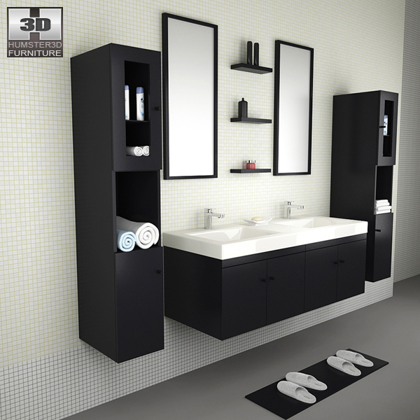 Bathroom Furniture 08 Set 3D model - Furniture on Hum3D