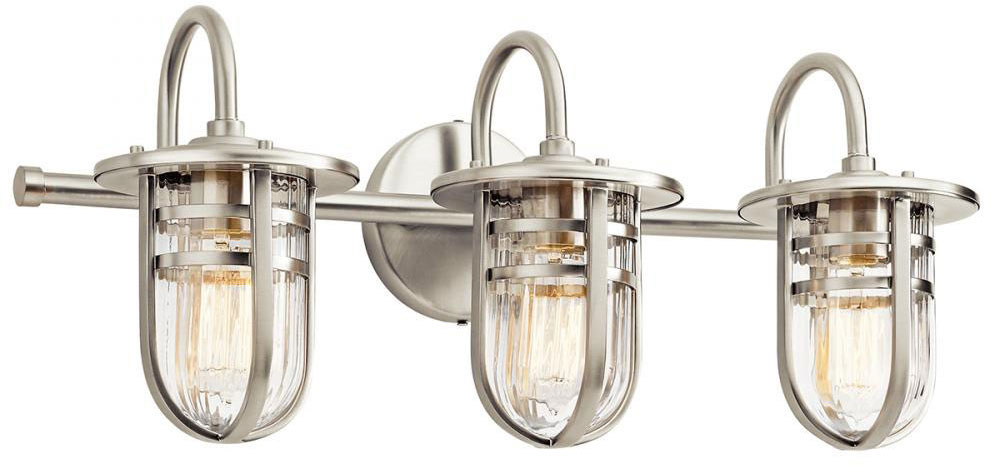 Ideas Bathroom Light Fixtures Brushed Nickel : Decoration With