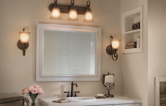 Bathroom Lighting - Vanity Lights & Wall Mount Fixtures