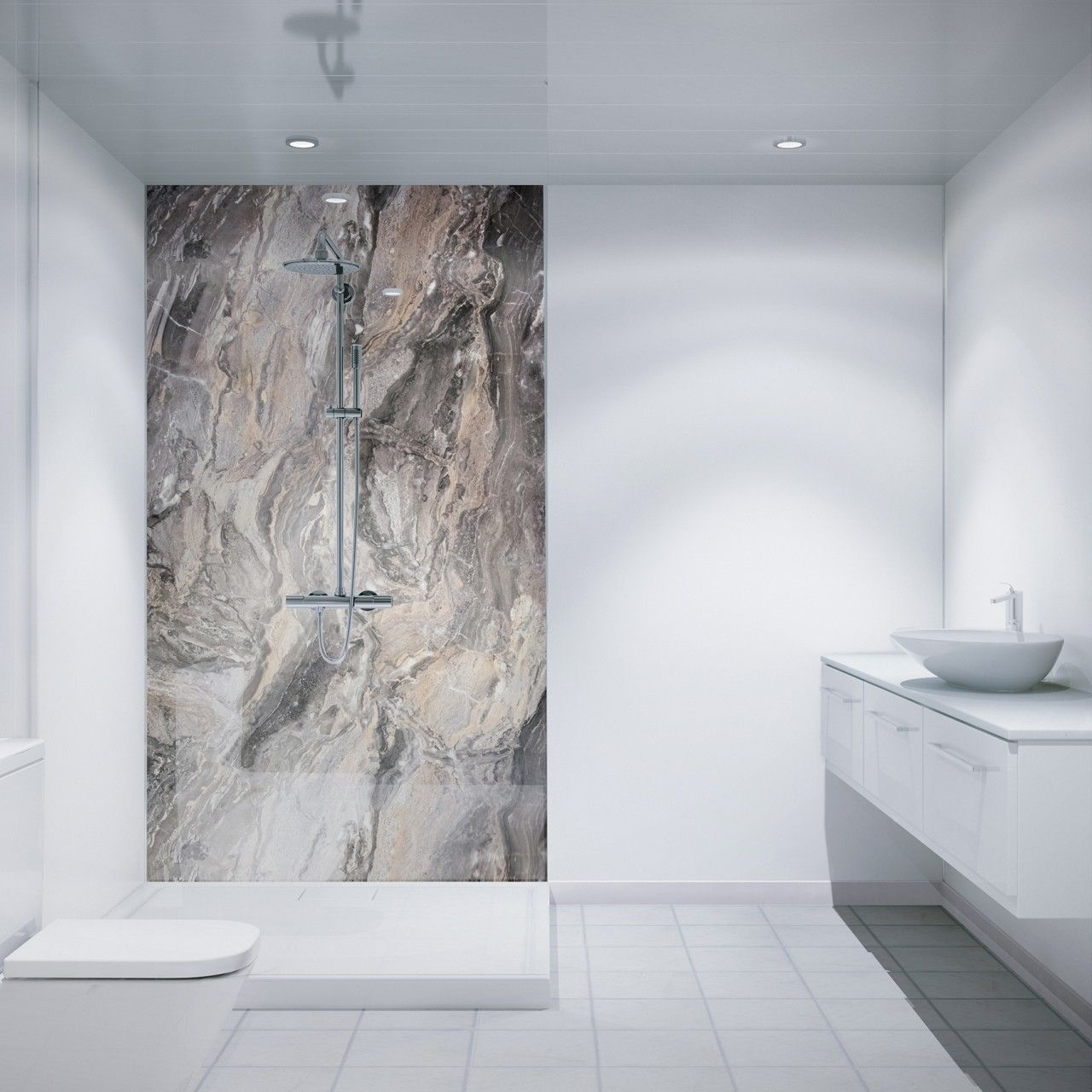 Waterproof wall panels are a great option for walk in showers; stylish,  waterproof and easy to clean? What more could you ask for?