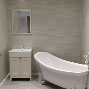 Image is loading 10-Modern-Silver-Small-Tile-Effect-Bathroom-Wall-