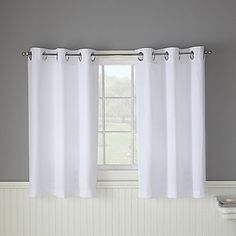 Hookless® Waffle White Bathroom Window Curtain Pair (for the bathroom in  the bedroom)
