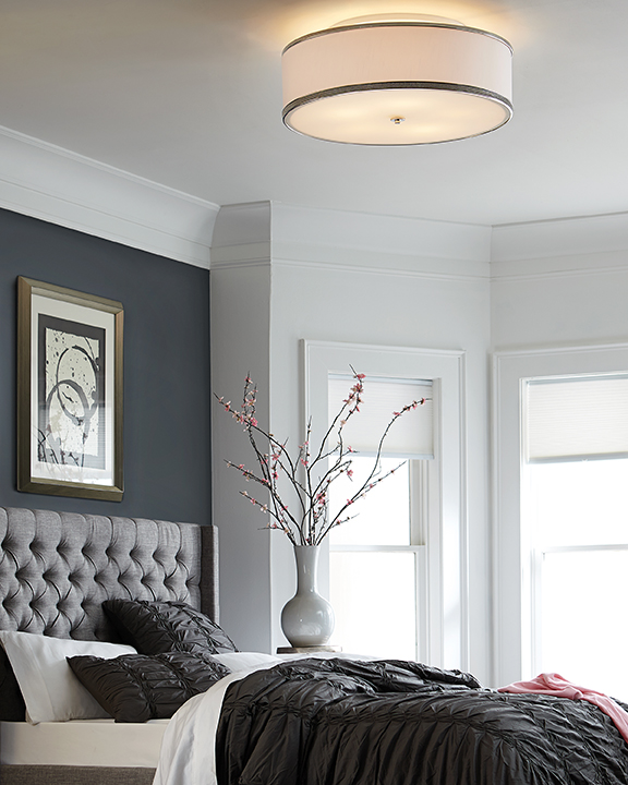 Feiss Lighting Pave Polished Nickel Semi-Flushmount Light By: Feiss Lighting