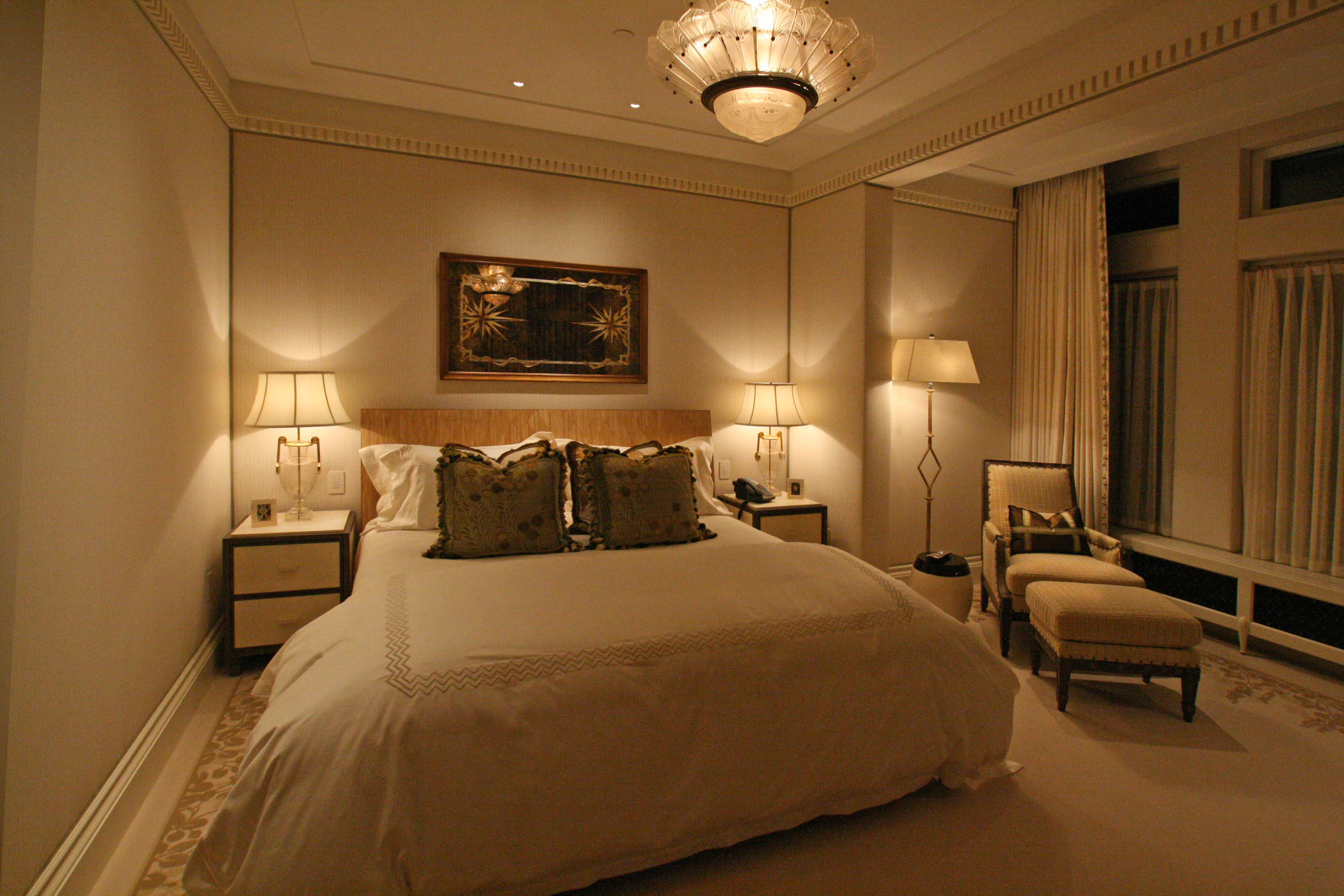 Q. What considerations should be taken into account when lighting a bedroom?