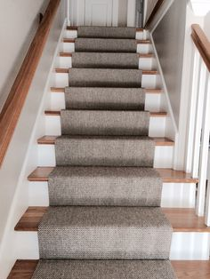 Merida Flat Woven Wool Stair Runner By The