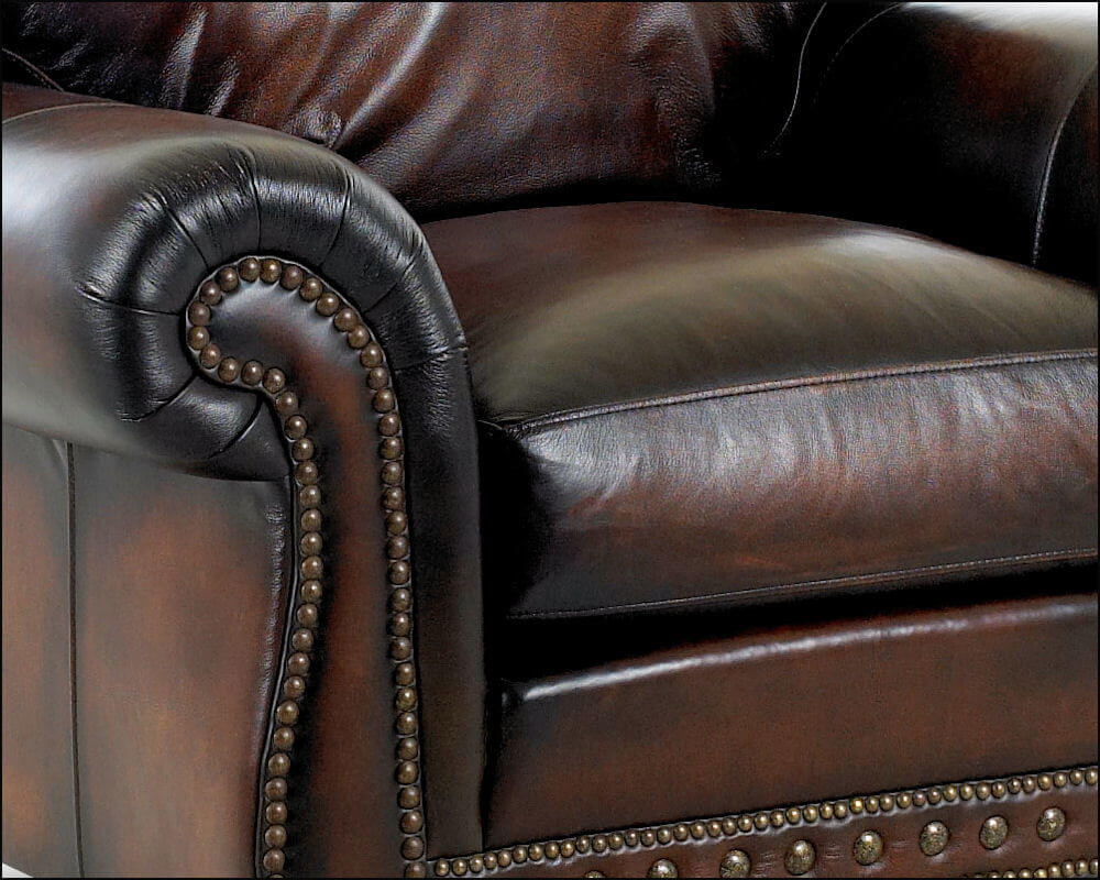 American Made Best Leather Club Chair Comfort Design Rodgers CL7002.  American