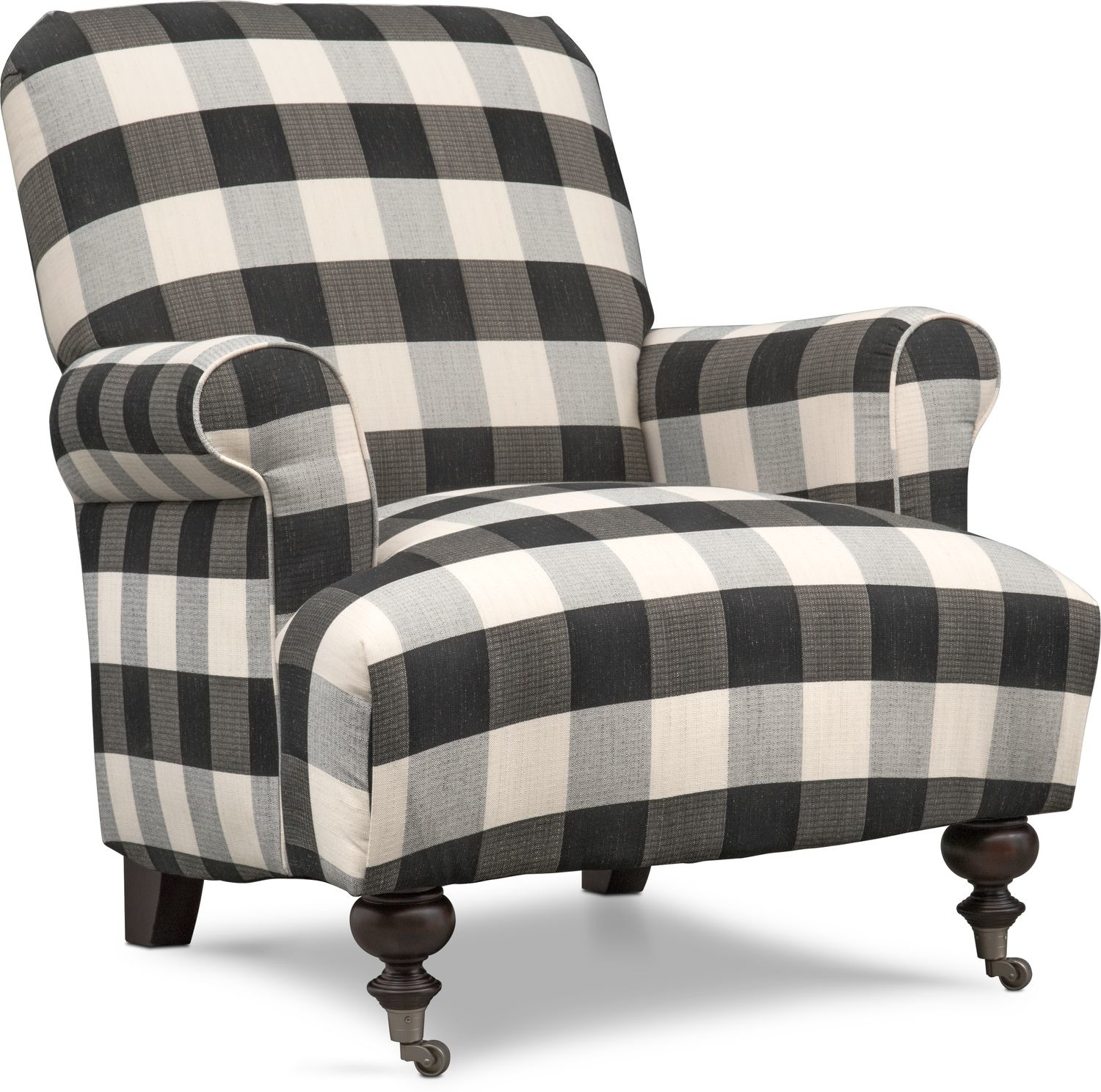 Tap to change Rhys Accent Chair - Black and White