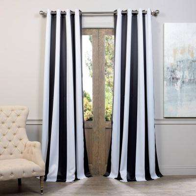 Semi-Opaque Awning Black and White Stripe - 50 in. W x 96 in