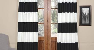 Half Price Drapes PRCT-HS06-96 Horizontal Stripe Cotton Curtian, 50 x 96