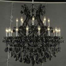 Maria Theresa Black 25-Light Chandelier with Jet Black Royal Cut Crystal