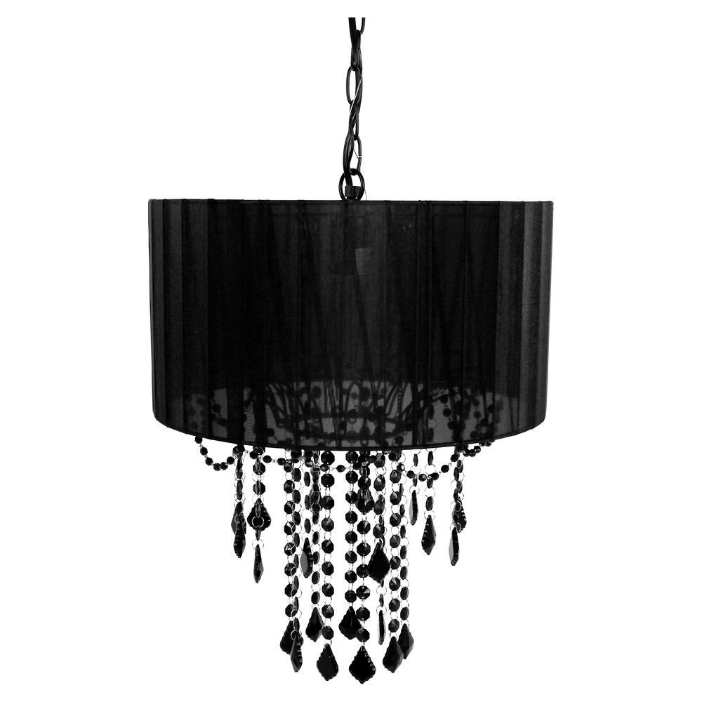 1-Light Black Chandelier Shade