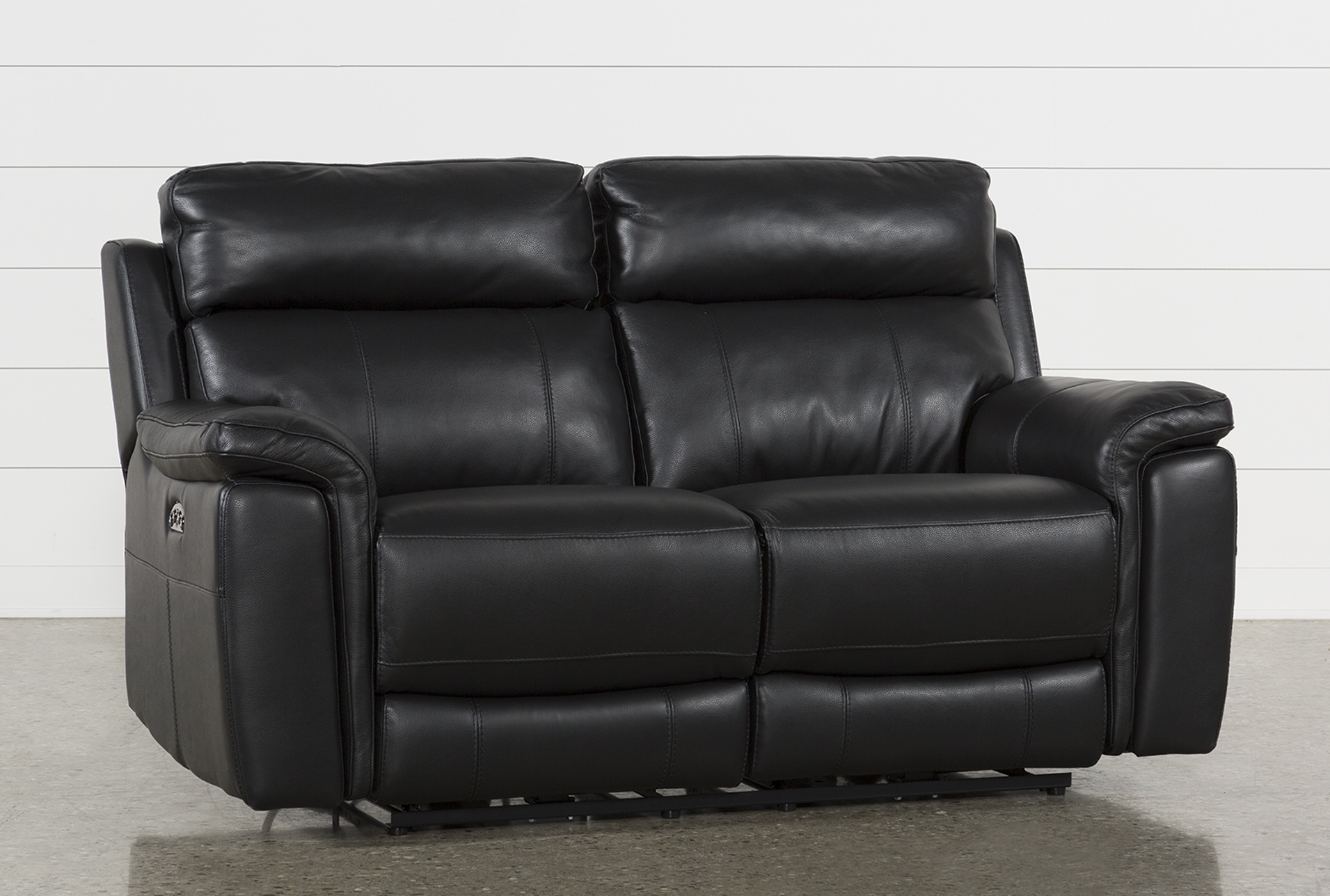 Dino Black Leather Power Reclining Loveseat W/Power Headrest & Usb  (Qty: 1) has been successfully added to your Cart.