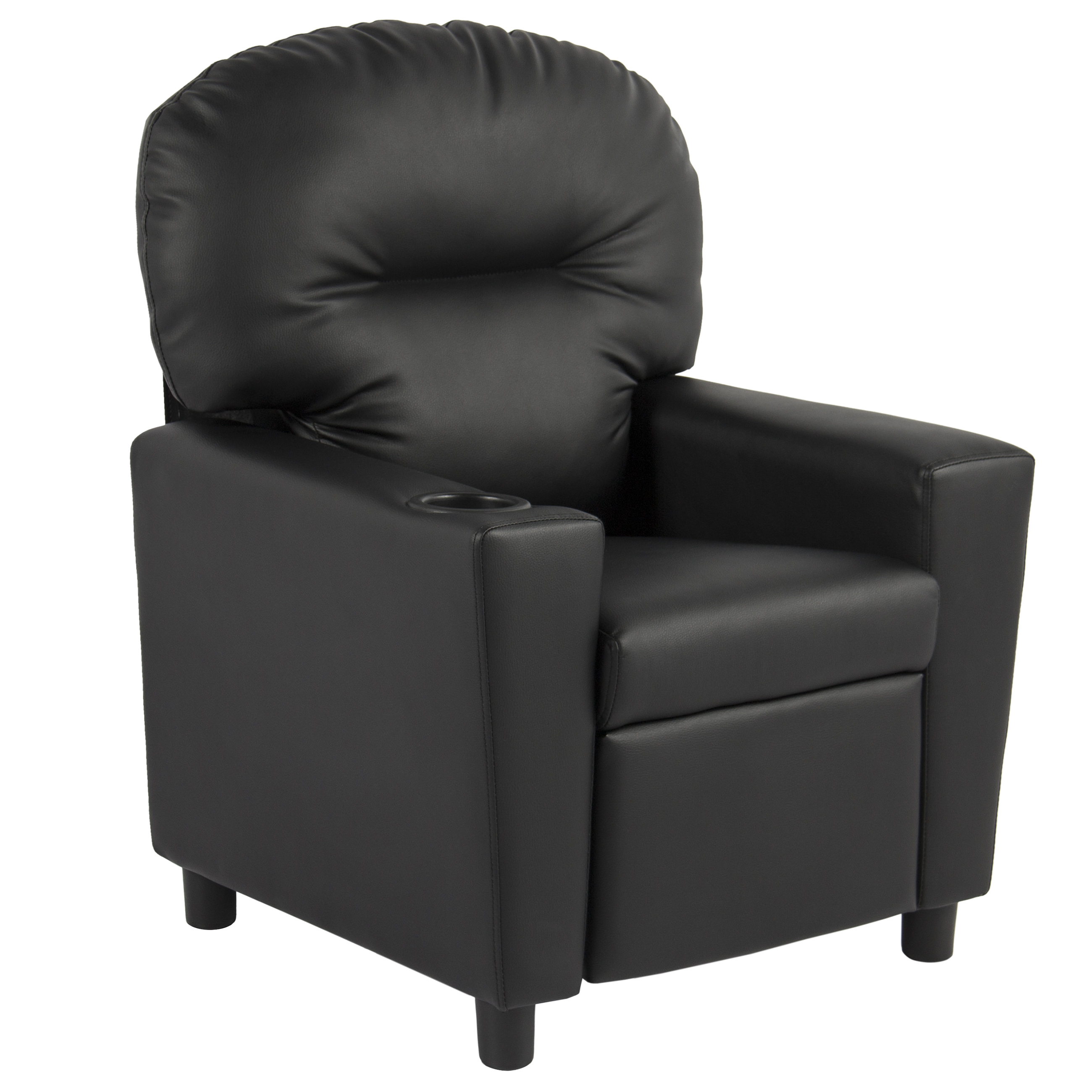 Best Choice Products Black Leather Kids Recliner Chair with Cup Holder -  Traveller Location