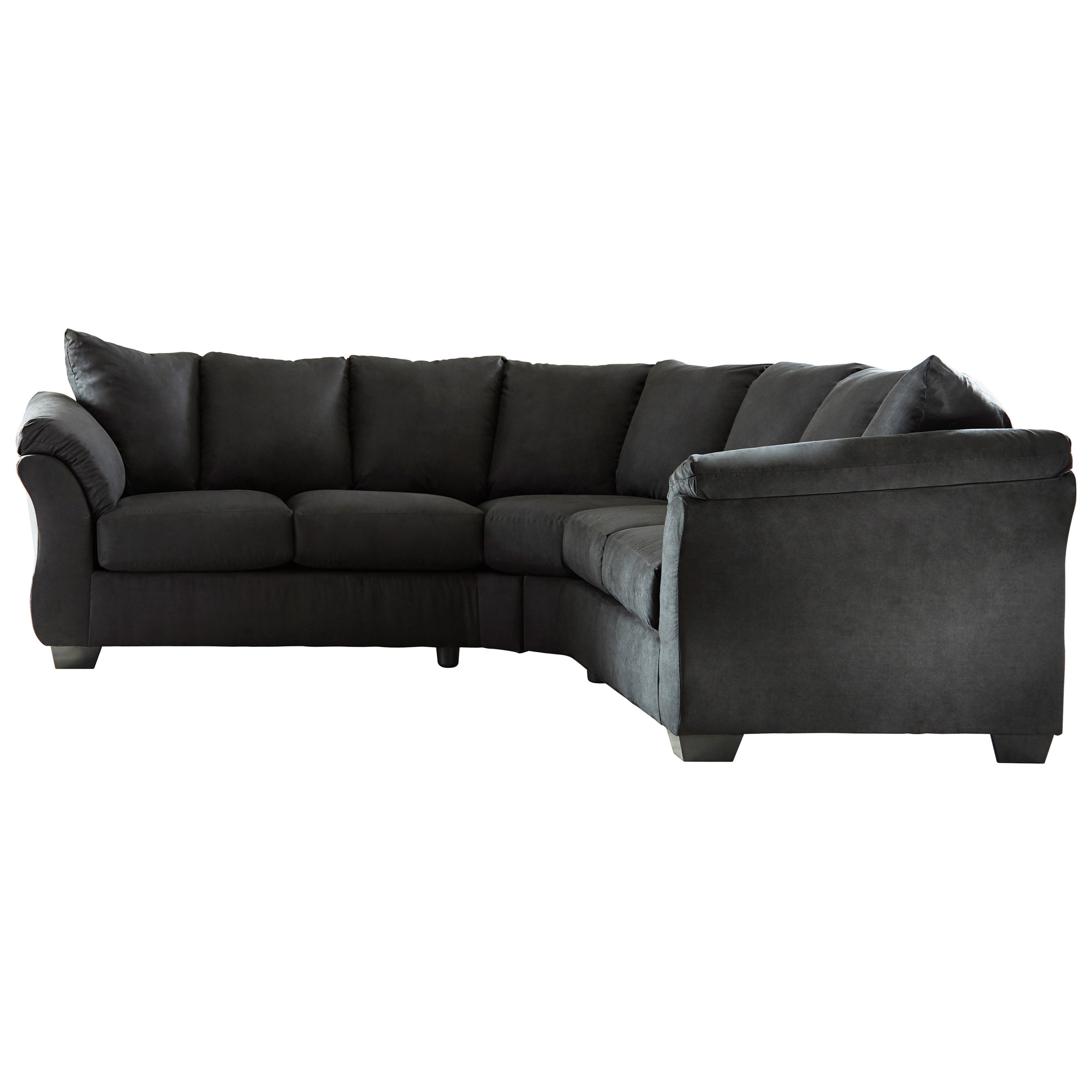 Darcy - Black Contemporary Sectional Sofa with Sweeping Pillow Arms by  Signature Design by Ashley