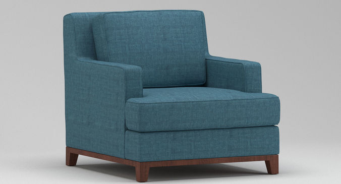 Light Blue Armchair | 3D model