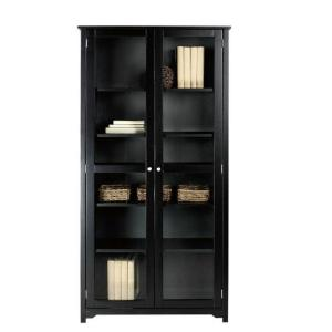 Internet #303584005. +2. Home Decorators Collection Oxford Black Glass Door  Bookcase