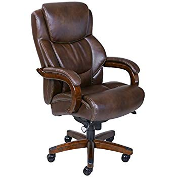 La-Z-Boy Delano Big & Tall Executive Bonded Leather Office Chair - Chestnut
