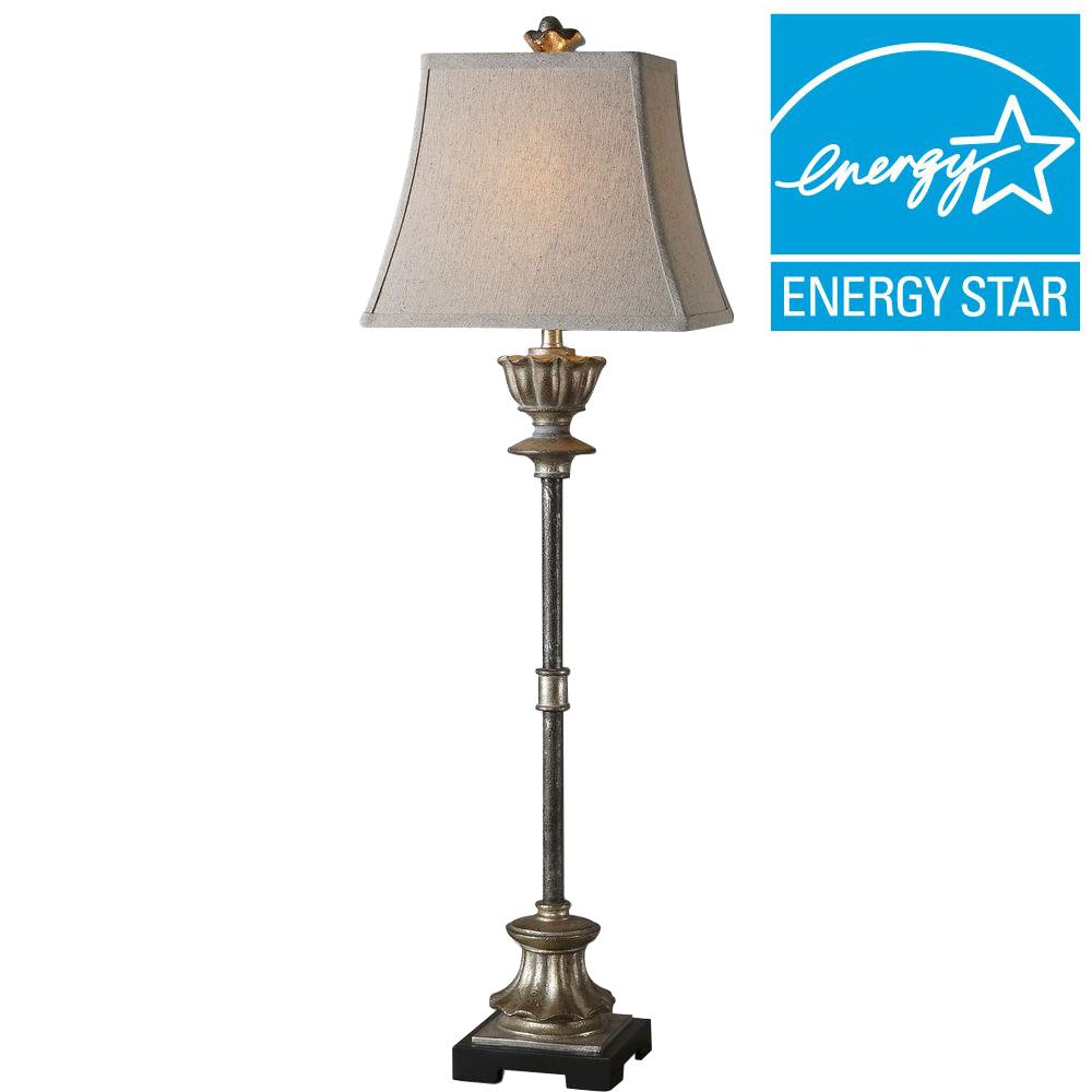 Silver Champagne Buffet Lamp