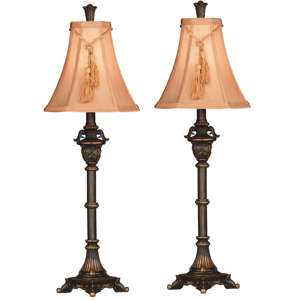 Metallic Bronze Buffet Lamp Set (2-Pack)