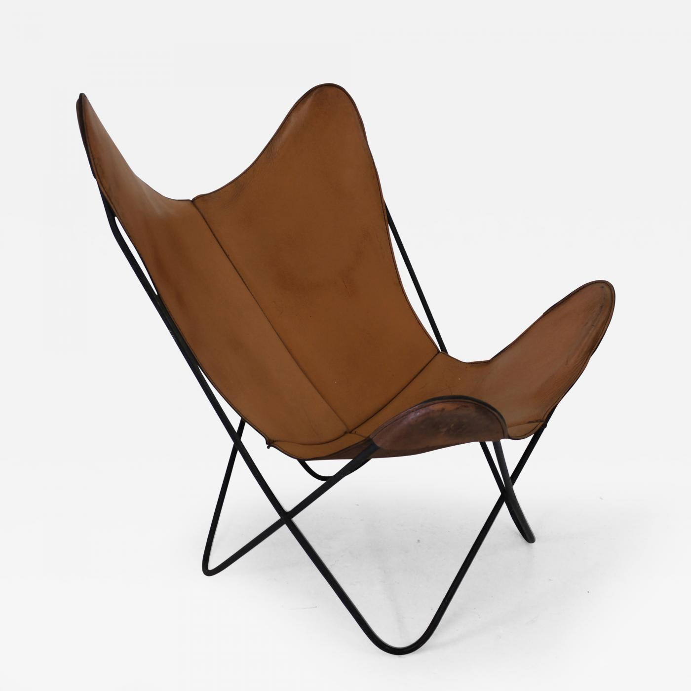Hardoy Leather Butterfly Chair