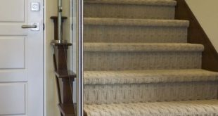 8 Modern Staircases Featuring Carpet: Contemporary Basketweave Pattern