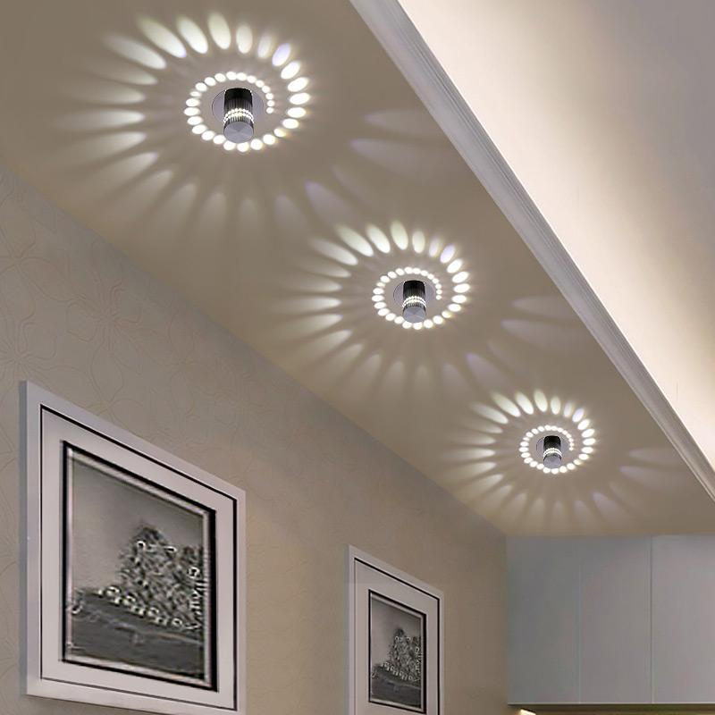 2019 Modern LED Ceiling Light 3W RGB Wall Sconce For Art Gallery Decoration  Front Balcony Lamp Porch Light Corridors Fixture From Alluring, $33.37 |  DHgate.