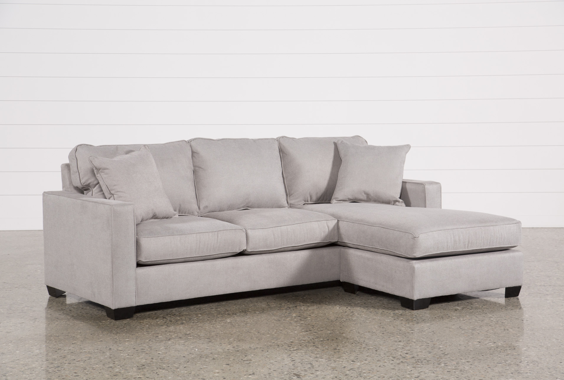 Egan II Cement Sofa With Reversible Chaise - 360
