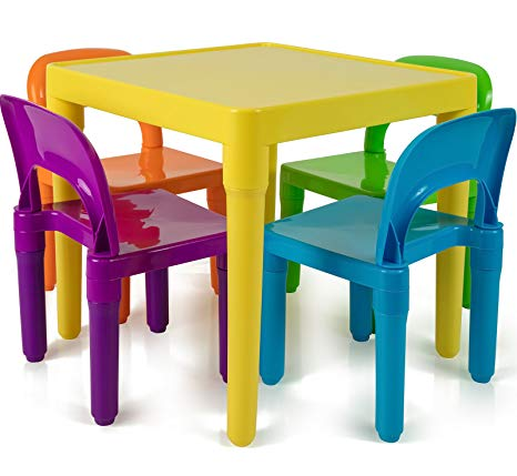 Kids Table and Chairs Set - Toddler Activity Chair Best for Toddlers Lego,  Reading,