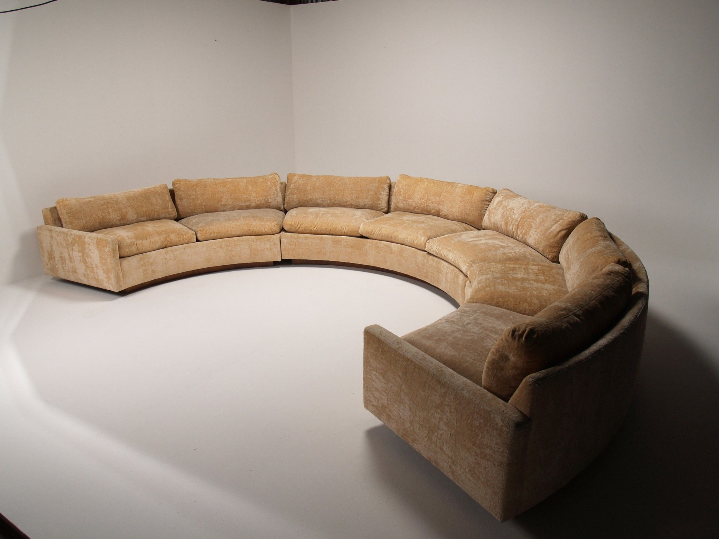 Circular Loveseat Sofa | Curved Sectional | Small Curved Couch