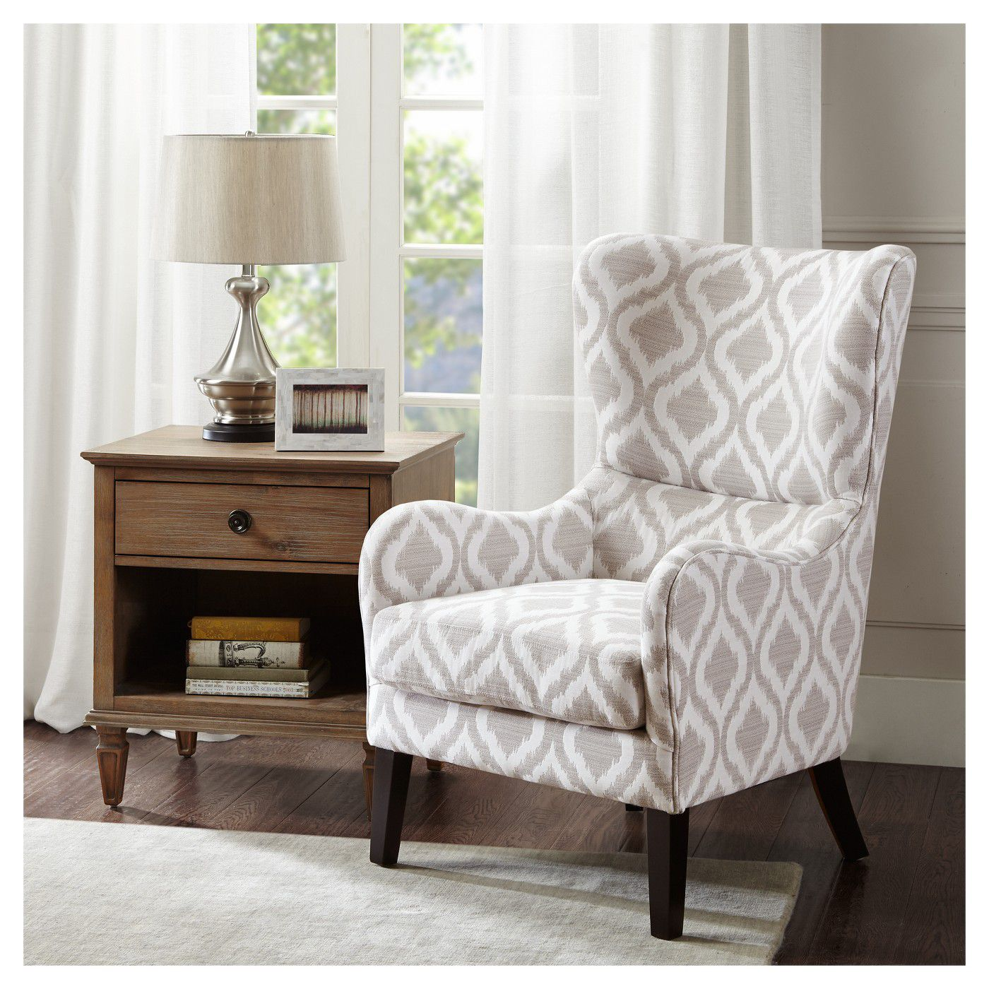 cozy chairs - swoop wingback arm chair