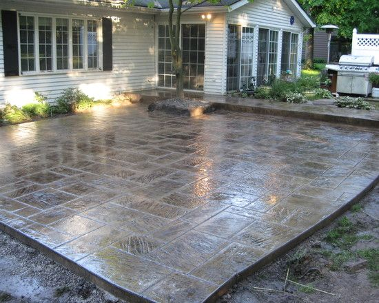 stain, Patio Stamped Concrete Design, Pictures, Remodel, Decor and Ideas