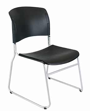 | Office Chairs | Conference Chairs | Economy Stacking Chair Black Plastic