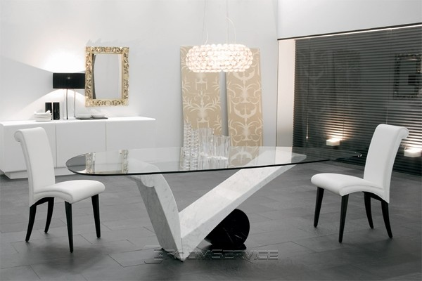 Viola d'amore Contemporary Marble Dining Table