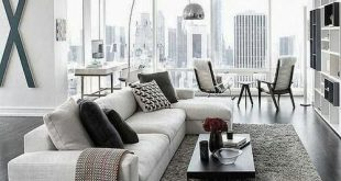 Gorgeous Modern Living Room Design | Contemporary Furniture ❤  Traveller Location #bilevelhomeinteriordecorating